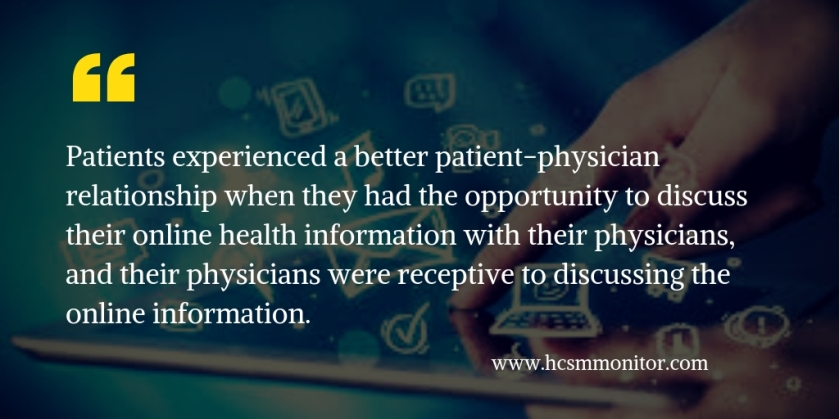 Patients experienced a better patient-physician relationship when they had the opportunity to discuss their online health information with their physicians, and their physicians were receptive to disc (1).jpg
