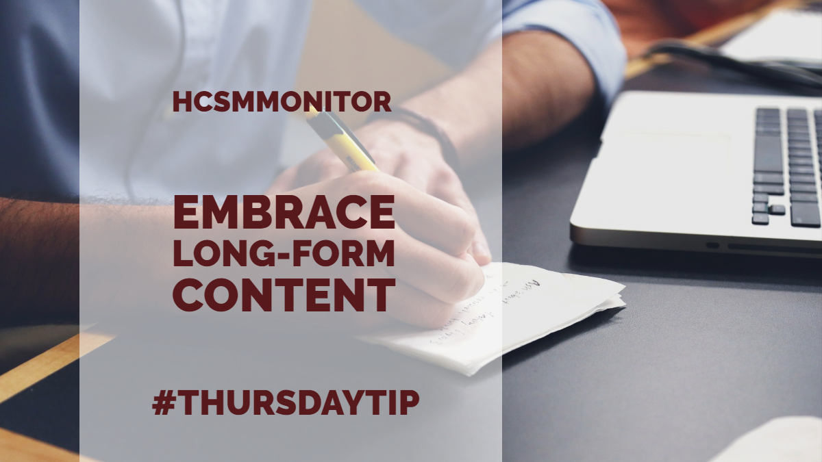 #ThursdayTip: How To Embrace Long-Form Content