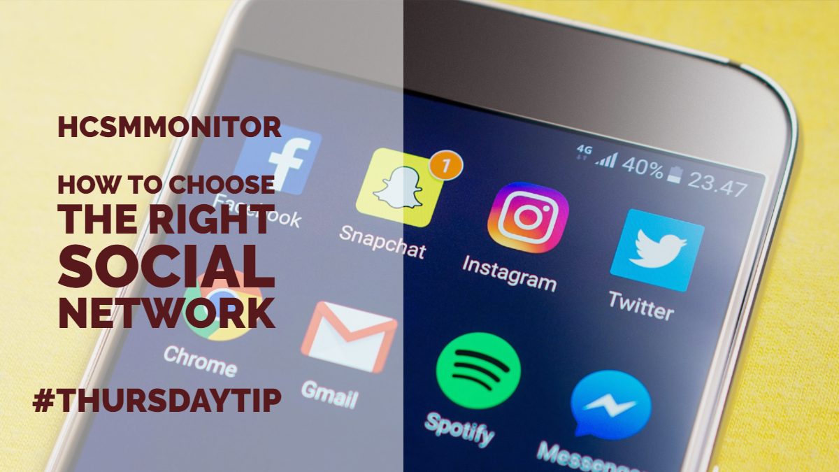 #ThursdayTip: How To Choose The Best Social Network For Your Audience